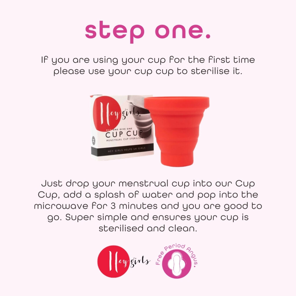 How to use a menstrual cup guide - step two
