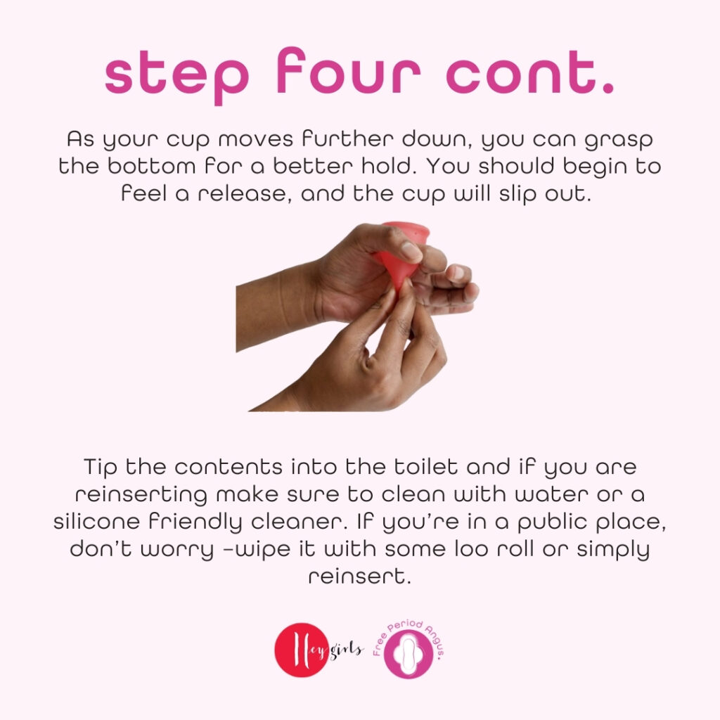 How to use a menstrual cup guide - step four